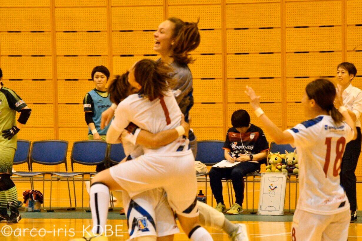 日本女子フットサルリーグ第5節、終盤の大逆転劇で勝利!2位に浮上!